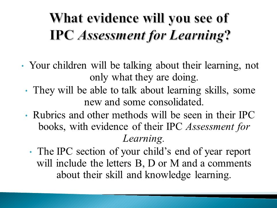 IPC Assessment for Learning at Panaga School 18th November