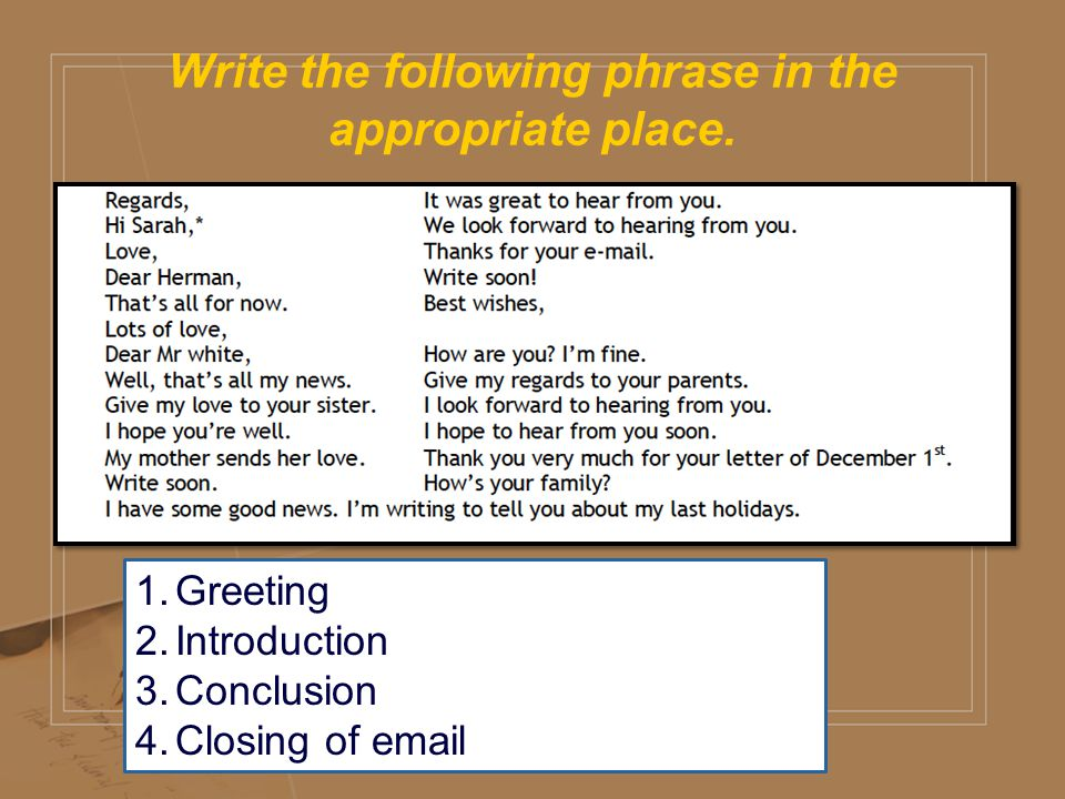 Writing an 1st year intermediate ppt video online download write the following phrase in the appropriate place m4hsunfo