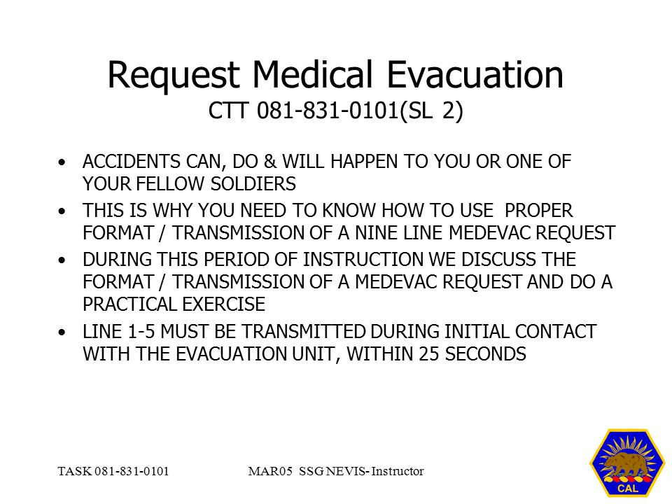 Request Medical Evacuation Ppt Video Online Download Rh Slideplayer Com Army 9Line Medevac Card Blank PowerPoint