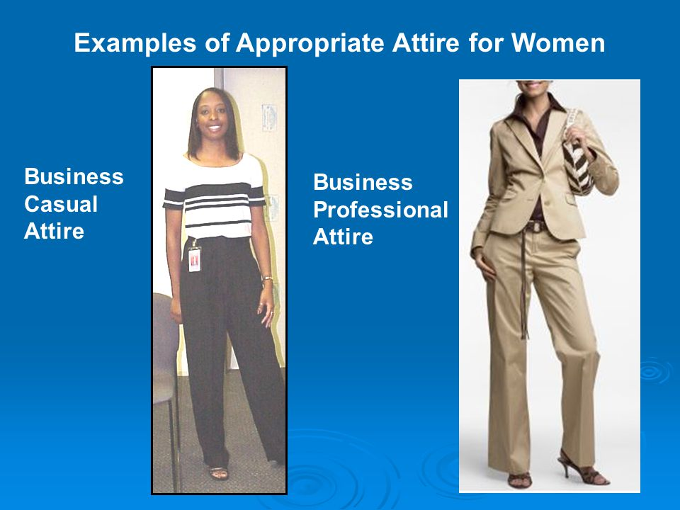 43afc7bf0d0 Business Casual Attire Business Professional Attire. Examples of  Appropriate Attire for Women