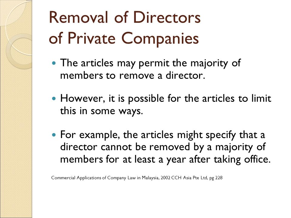 removal of director case laws