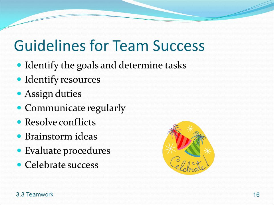 Guidelines for Team Success