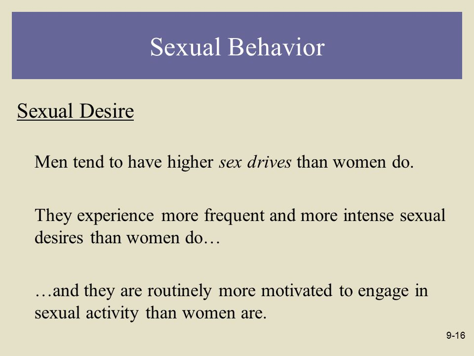 Women are more sexual than men
