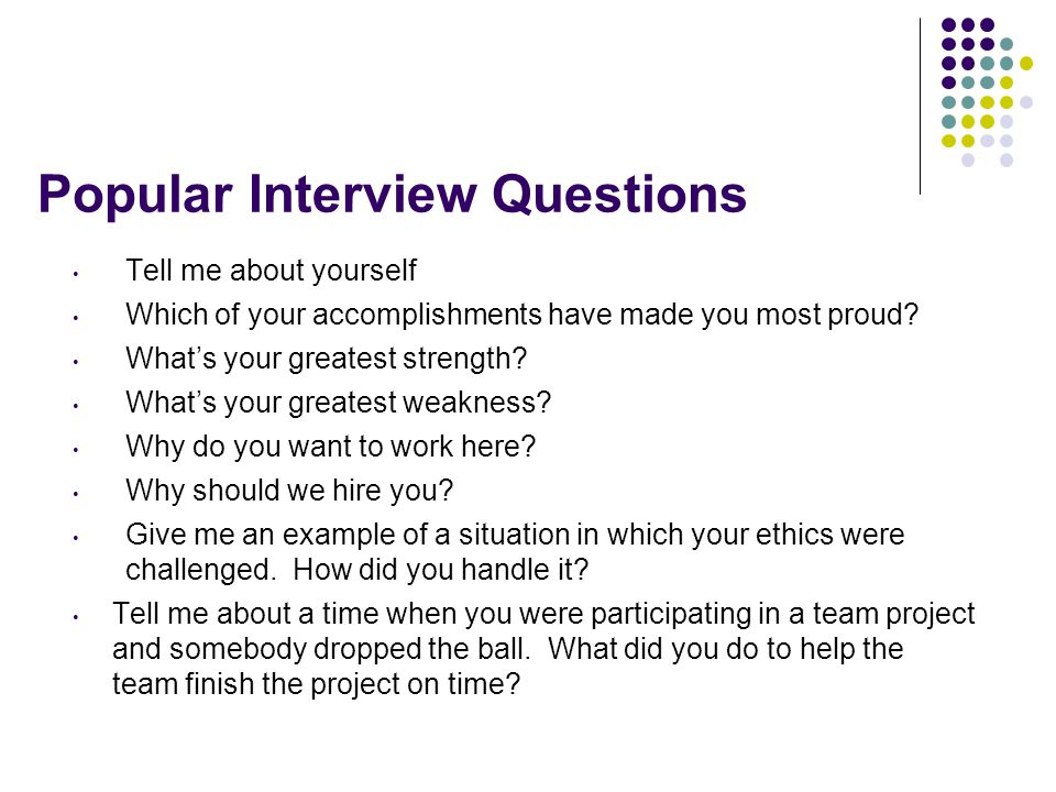 Popular Interview Questions