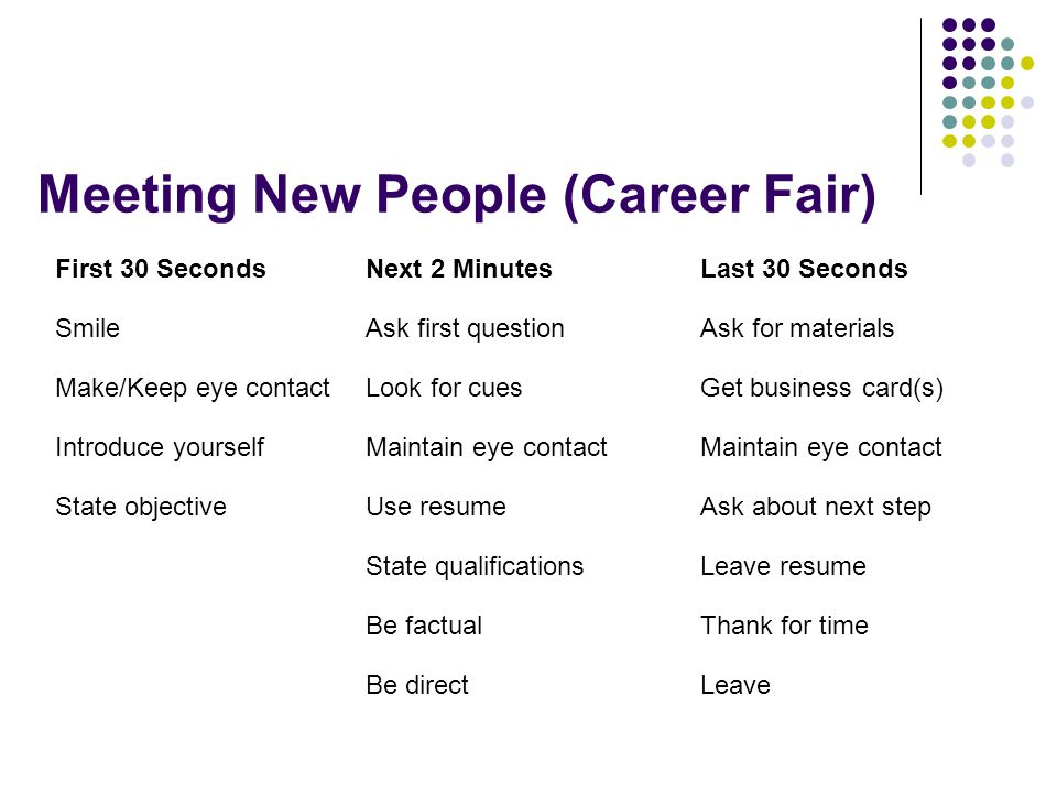 questions to ask at a job fair