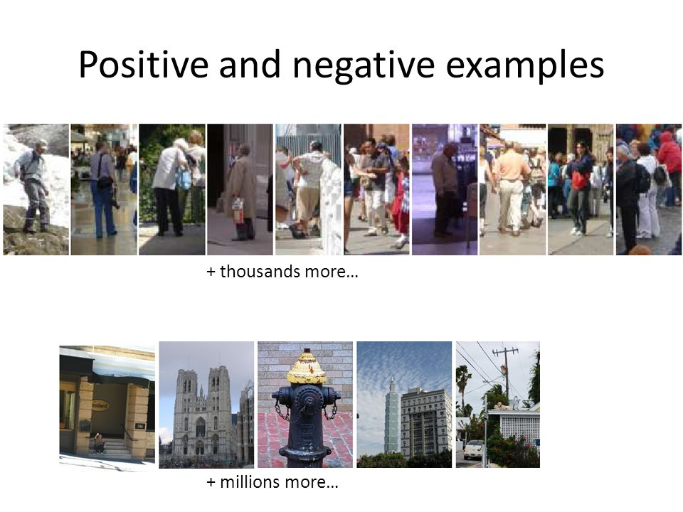 Positive and negative examples