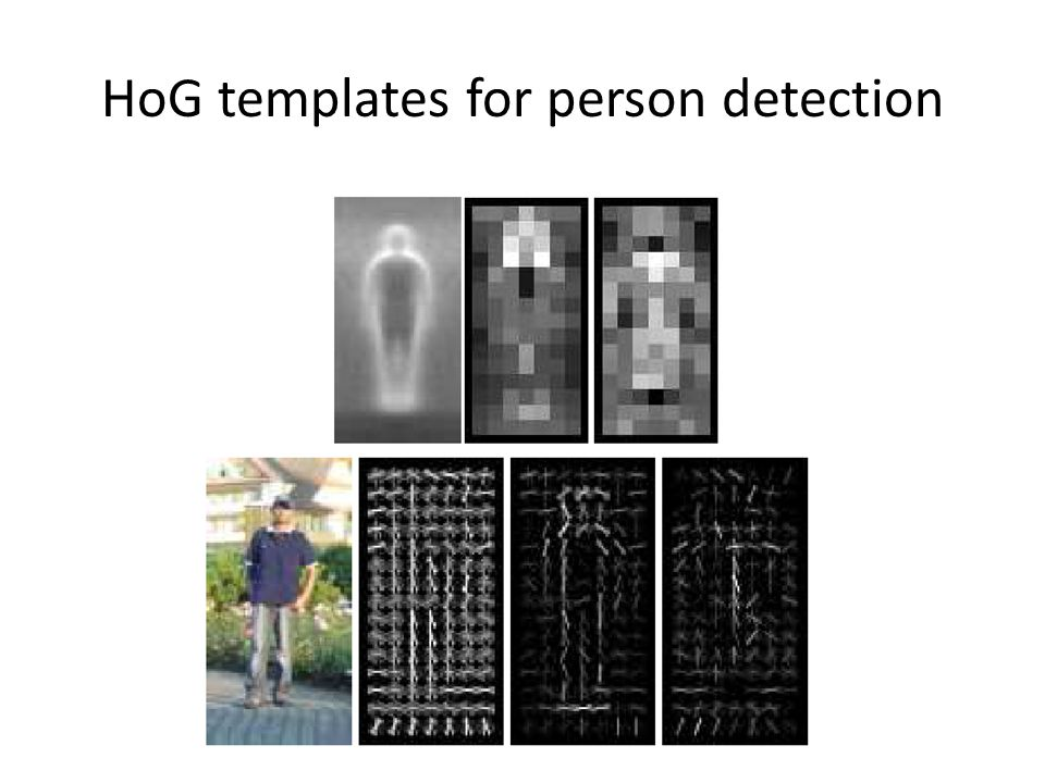 HoG templates for person detection