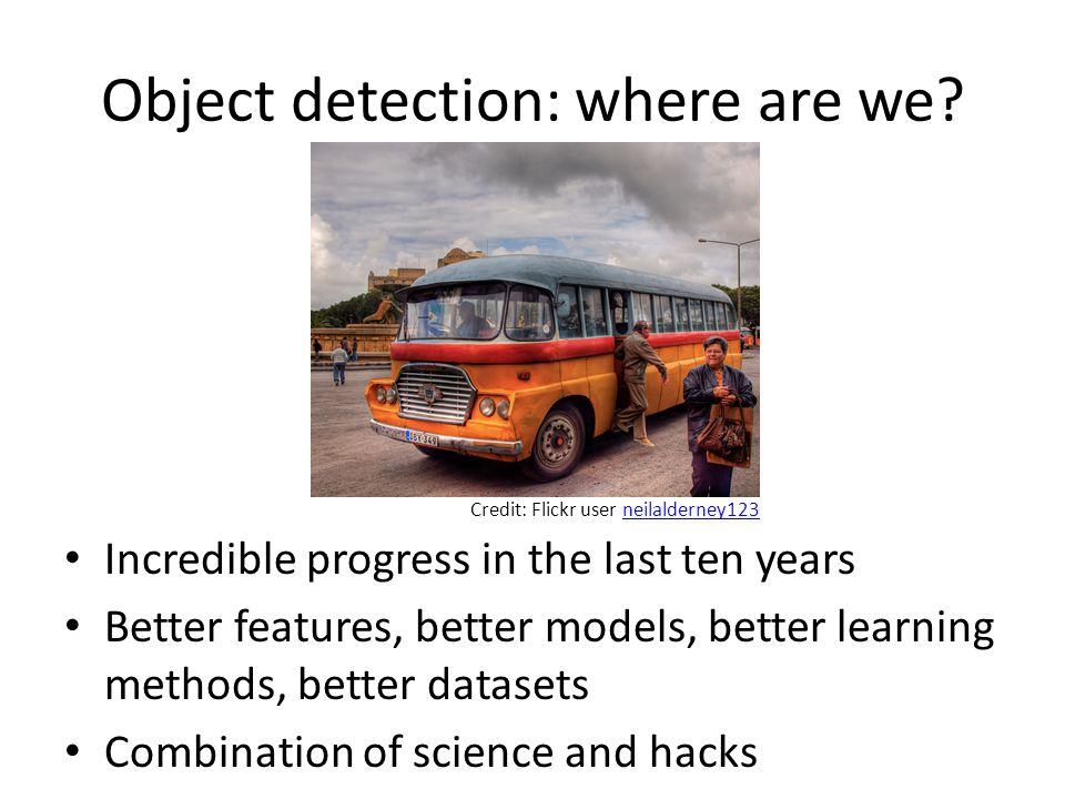 Object detection: where are we
