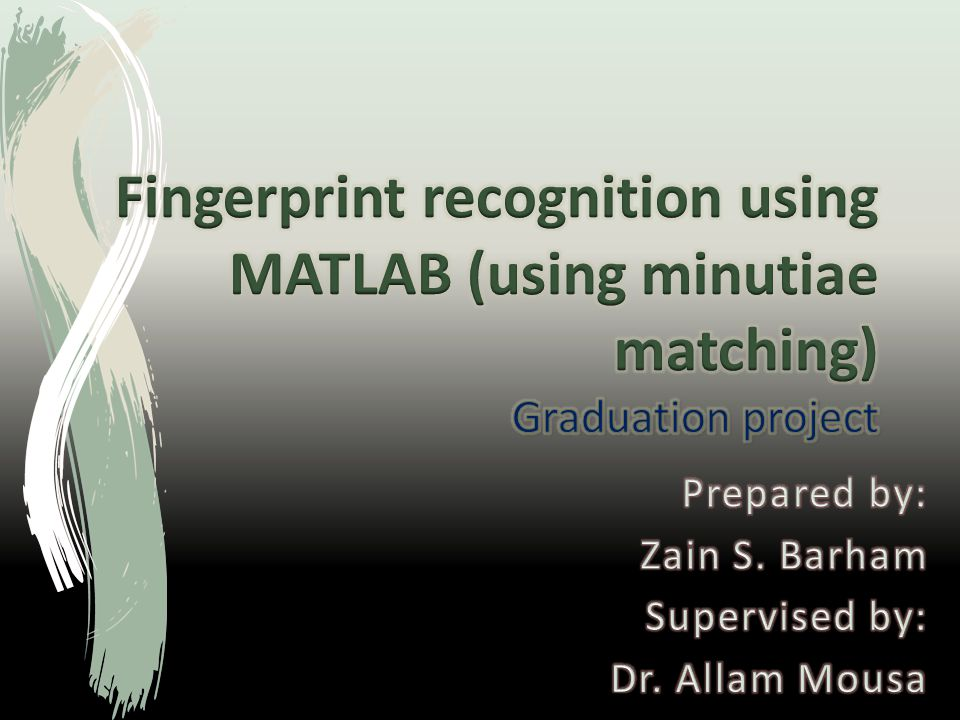 Fingerprint recognition using MATLAB (using minutiae matching
