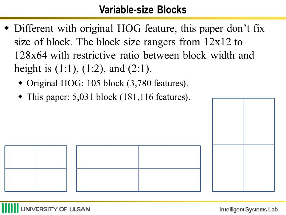 Variable-size Blocks