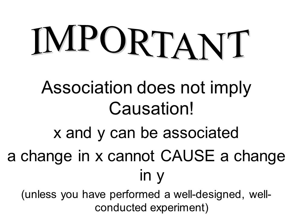 Association does not imply Causation!