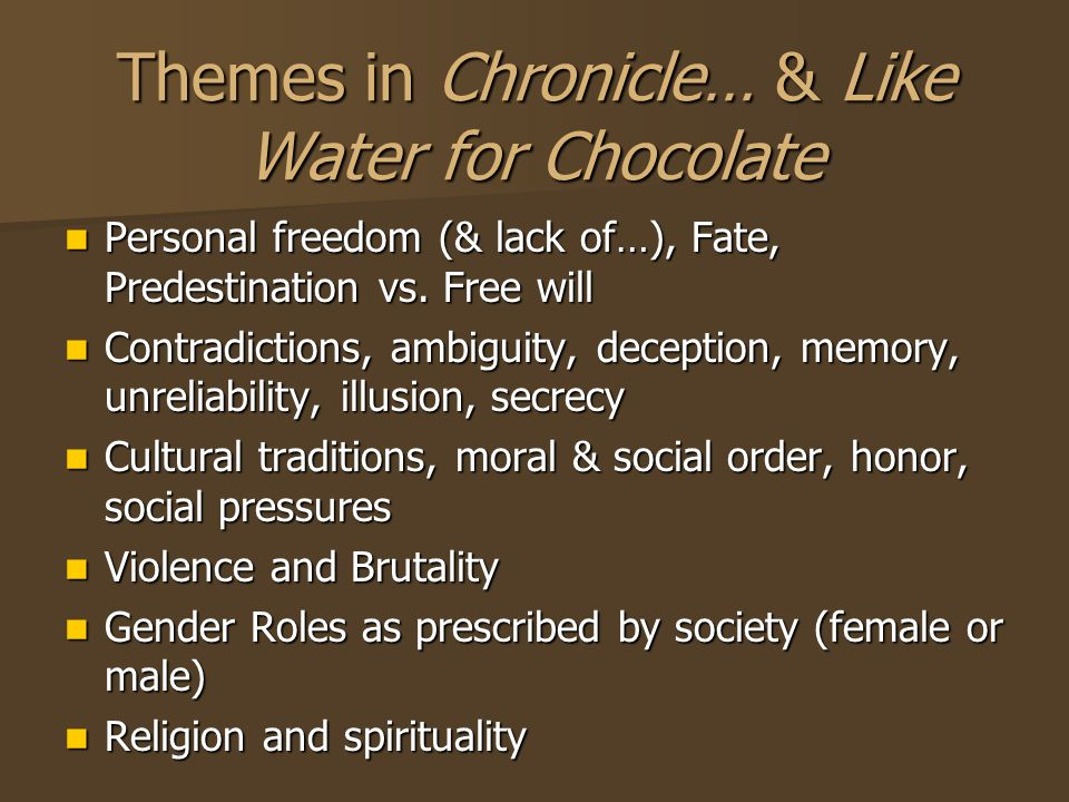 tradition in like water for chocolate