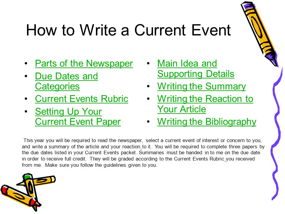 6th Grade Current Events