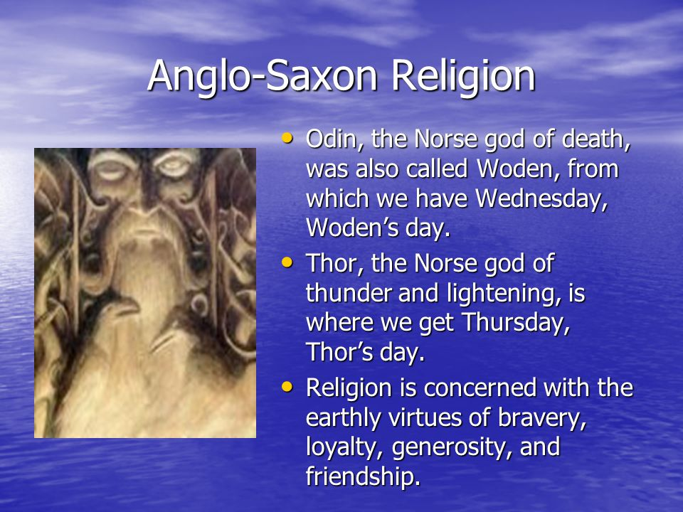 what was the religion of the anglo saxons