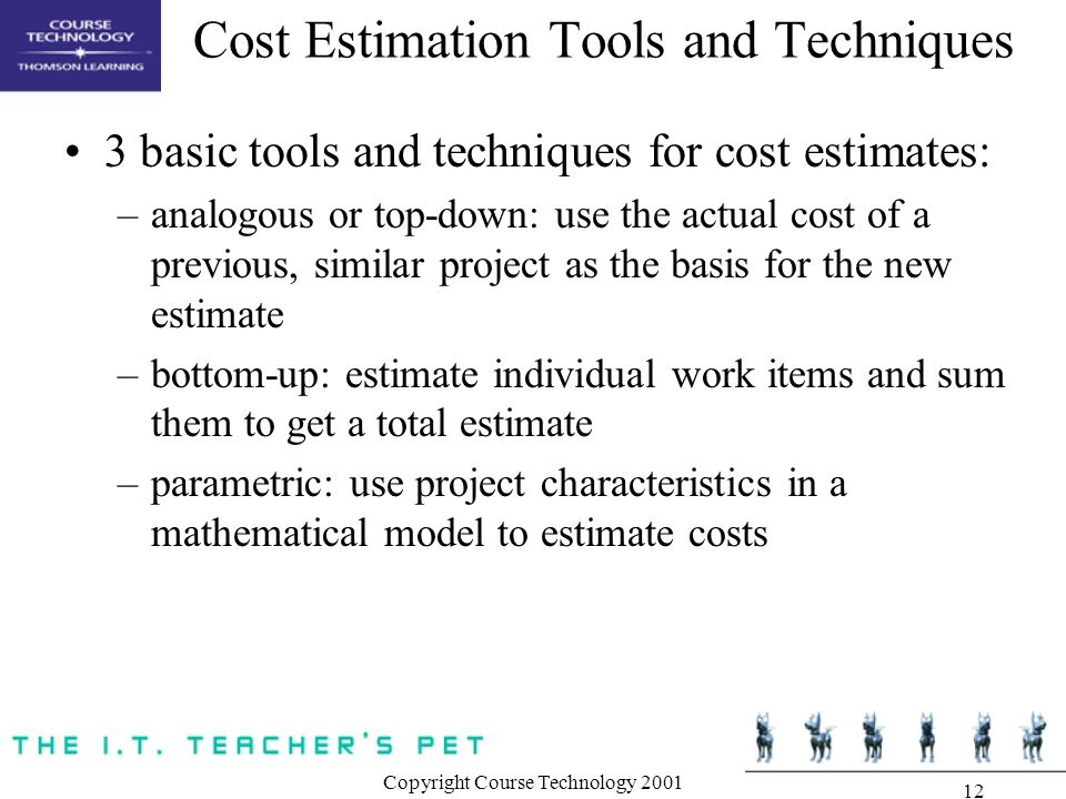 project tools and techniques pdf