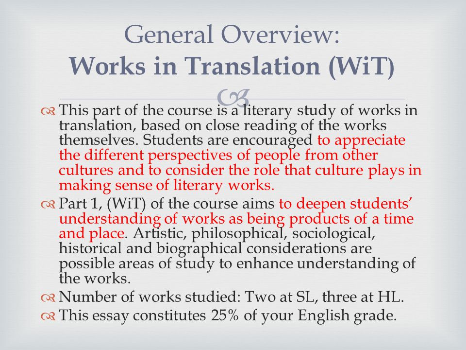 English Literature Hl  Sl  Ppt Video Online Download  General