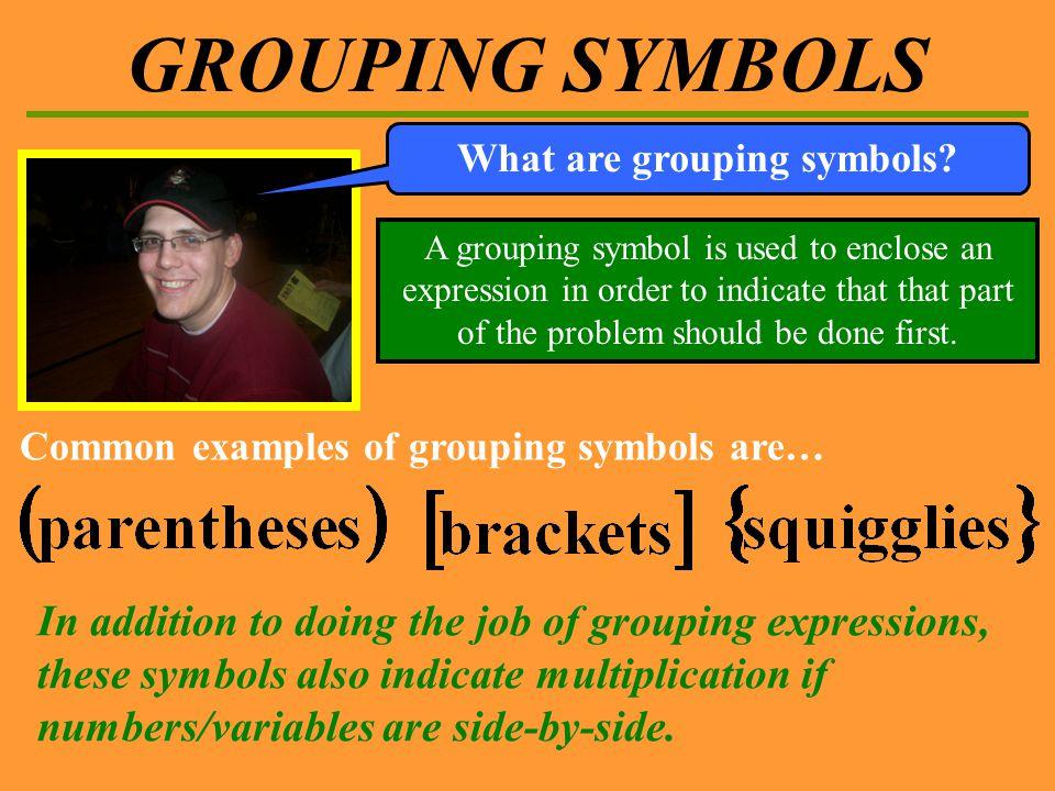Algebra I Section 1 2 Grouping Symbols Grouping Symbols Ppt