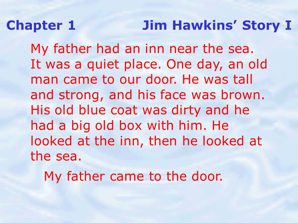 Chapter 1 Jim Hawkins' Story I