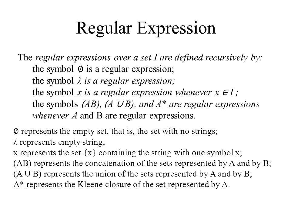 Regular Grammars Formal Definition Of A Regular Expression Ppt