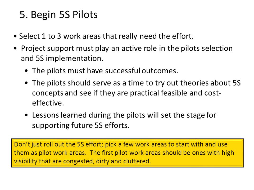 5S Planning and Implementation Guide - ppt video online download