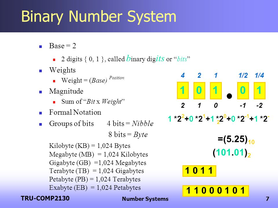 binary number On convert binary dot com you can find the numbers from 0 to 100 in their binary code representation if you want to know the binary representation of any decimal number up to 7 digits, check out the decimal to binary converter.