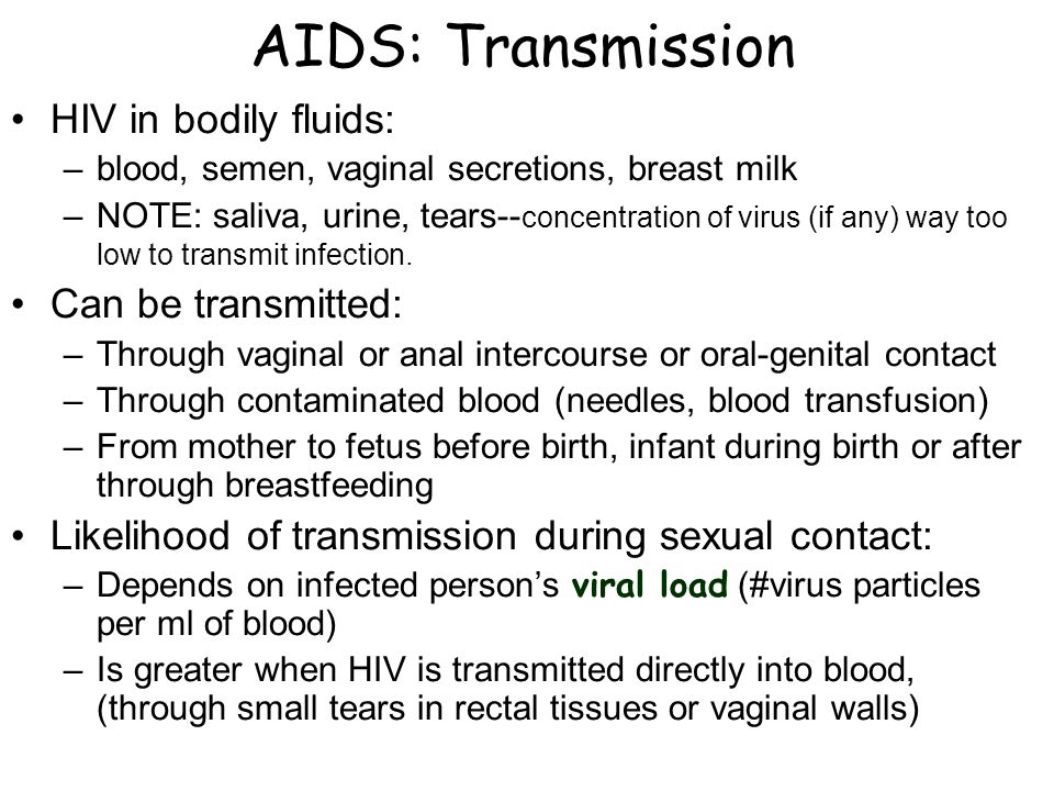 Hiv transmitted through-1469