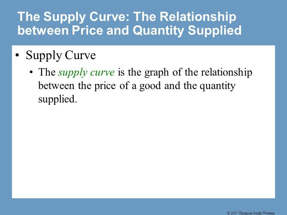 Figure 5 Ben's Supply Schedule and Supply Curve
