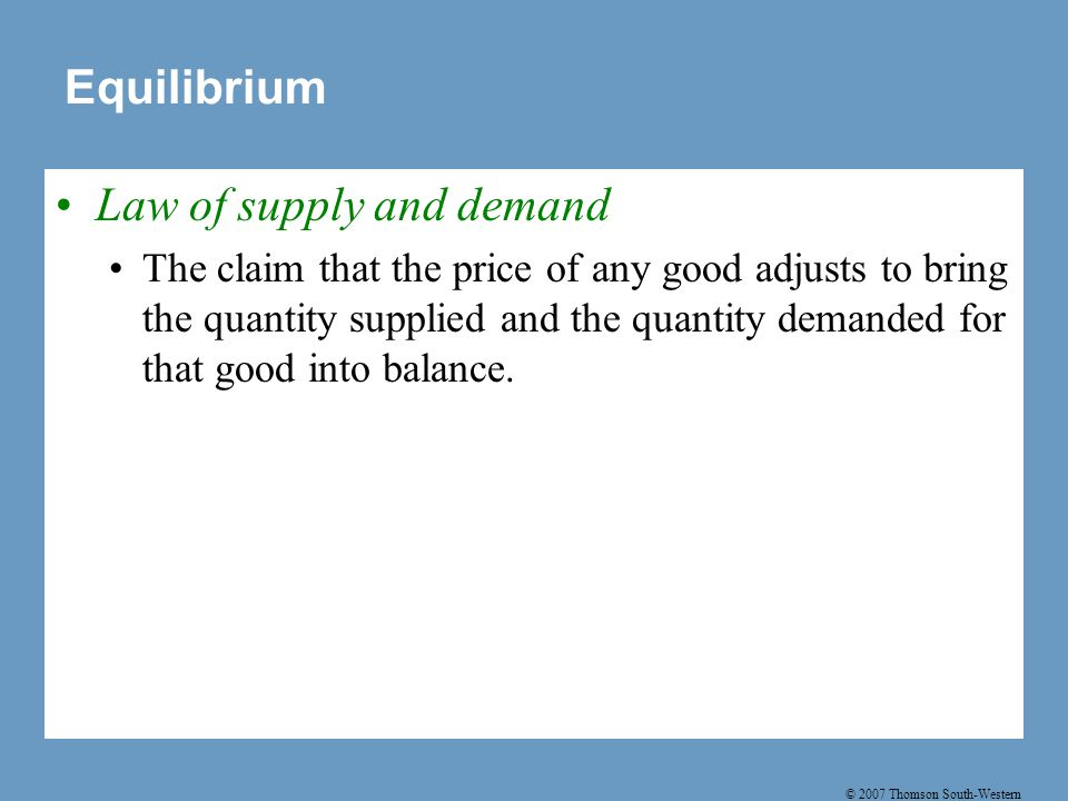 Table 3: Three Steps for Analyzing Changes in Equilibrium