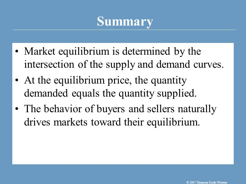 To analyze how any event influences a market, we use the supply-and-demand diagram to examine how the event affects the equilibrium price and quantity.