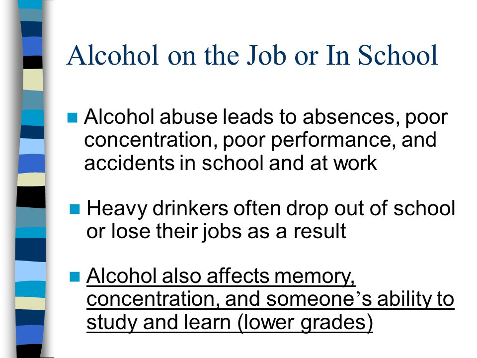 Alcohol on the Job or In School