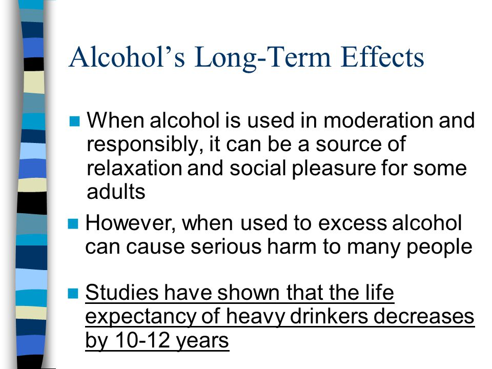 Alcohol's Long-Term Effects