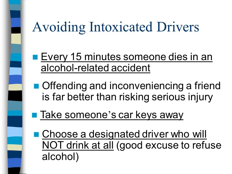 Avoiding Intoxicated Drivers