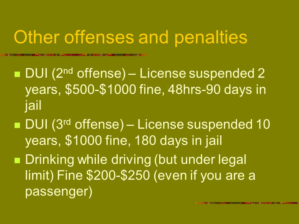 Chapter 7 DRIVER PRIVILEGES AND PENALTIES  - ppt video online download
