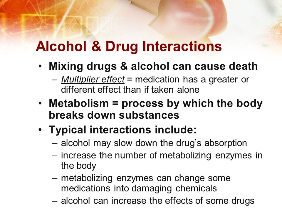 Alcohol & Drug Interactions