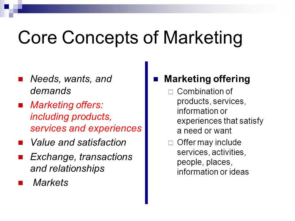 9 core marketing concepts