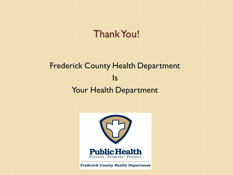 Frederick County Health Department Is Your Health Department