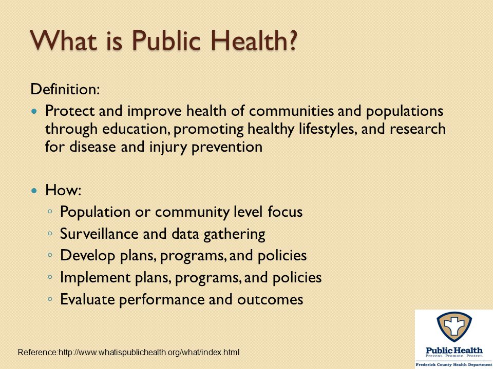 What is Public Health Definition: