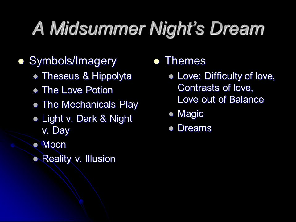 A Midsummer Nights Dream Ppt Video Online Download