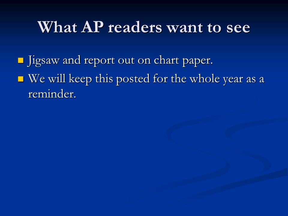 What AP readers want to see
