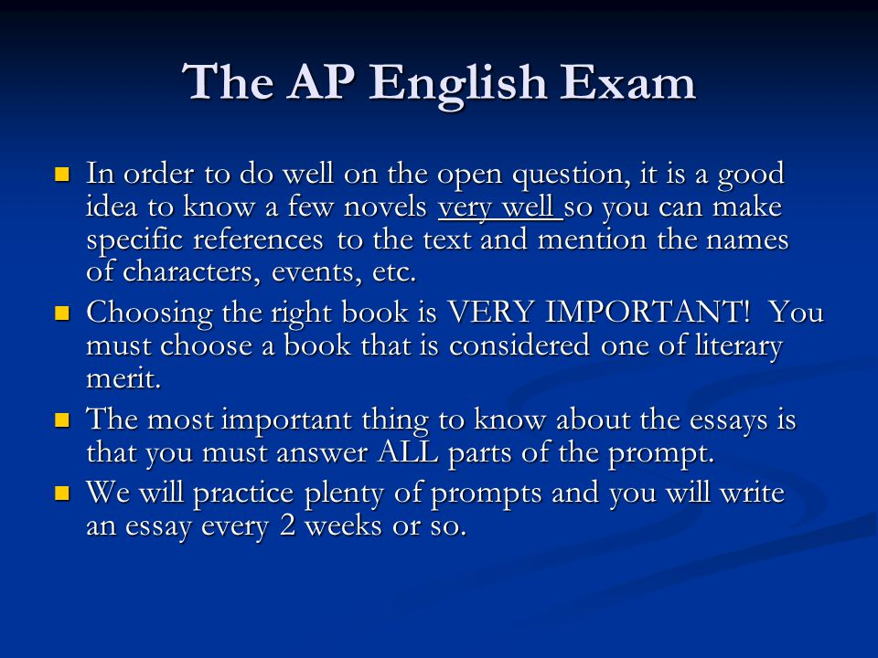 The AP English Exam