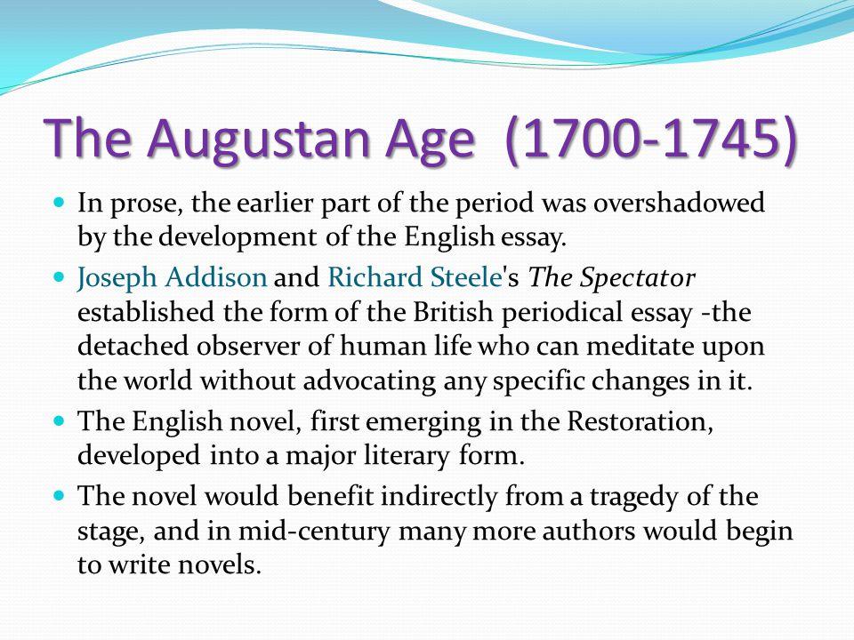 development of essay in english literature