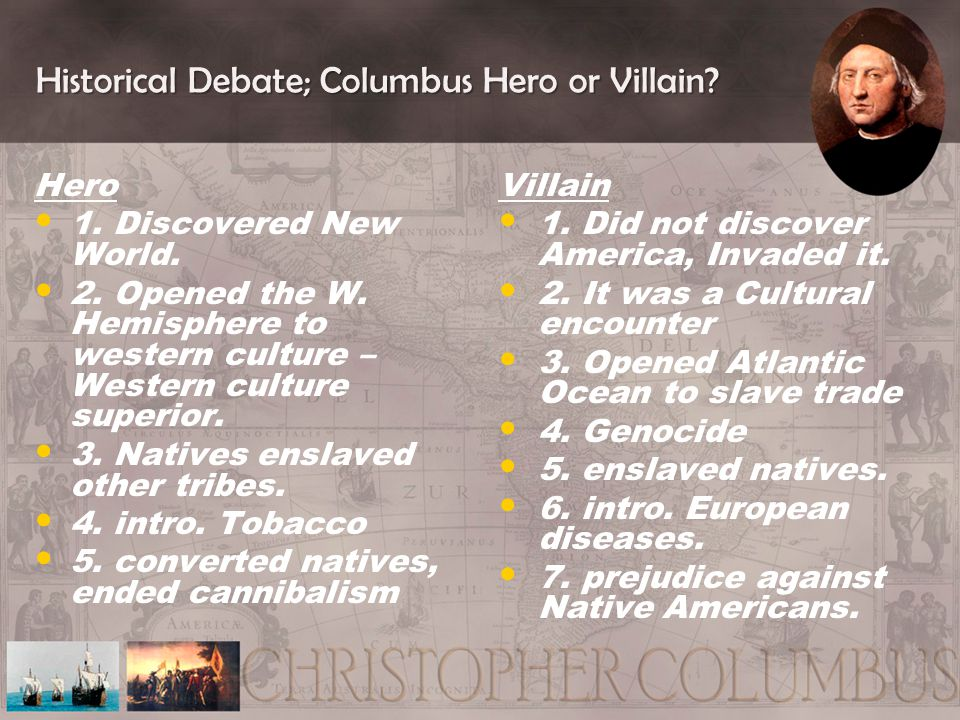 why is columbus a hero