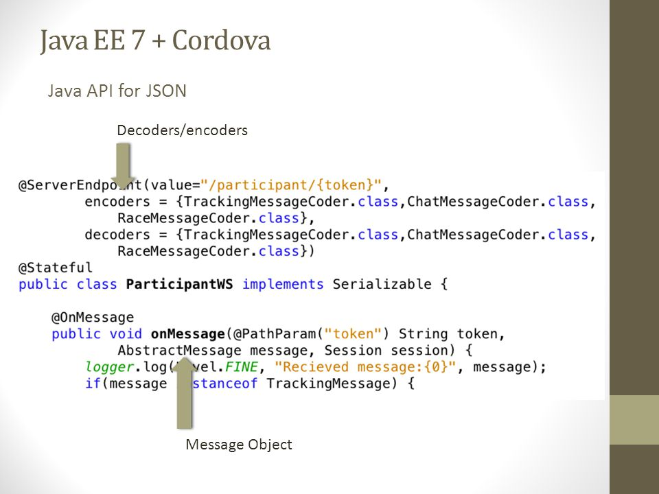 Hybrid Mobile Development with Apache Cordova and Java EE 7 - ppt