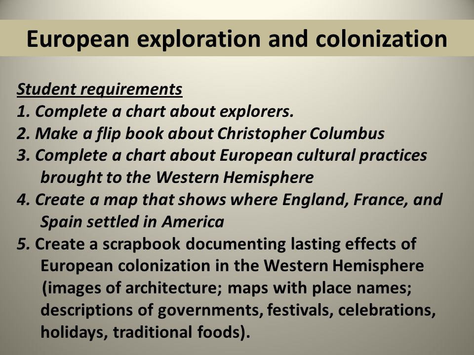 essay on colonization Conquests, colonization, the slave trade, and the spread of the following essay will highlight the effects of colonialism on the developing world from an economic, political and social perspective.
