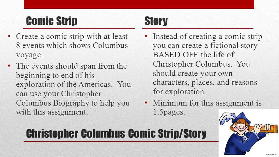 Christopher columbus comic strip