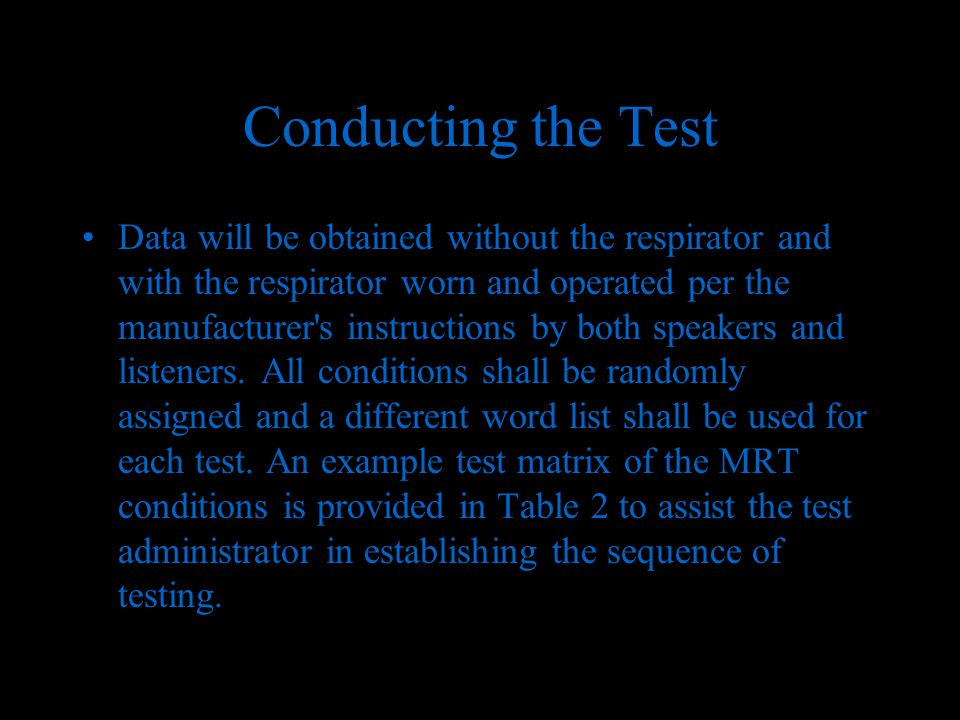 Modified Rhyme Test Determination Of Communication Performance Test