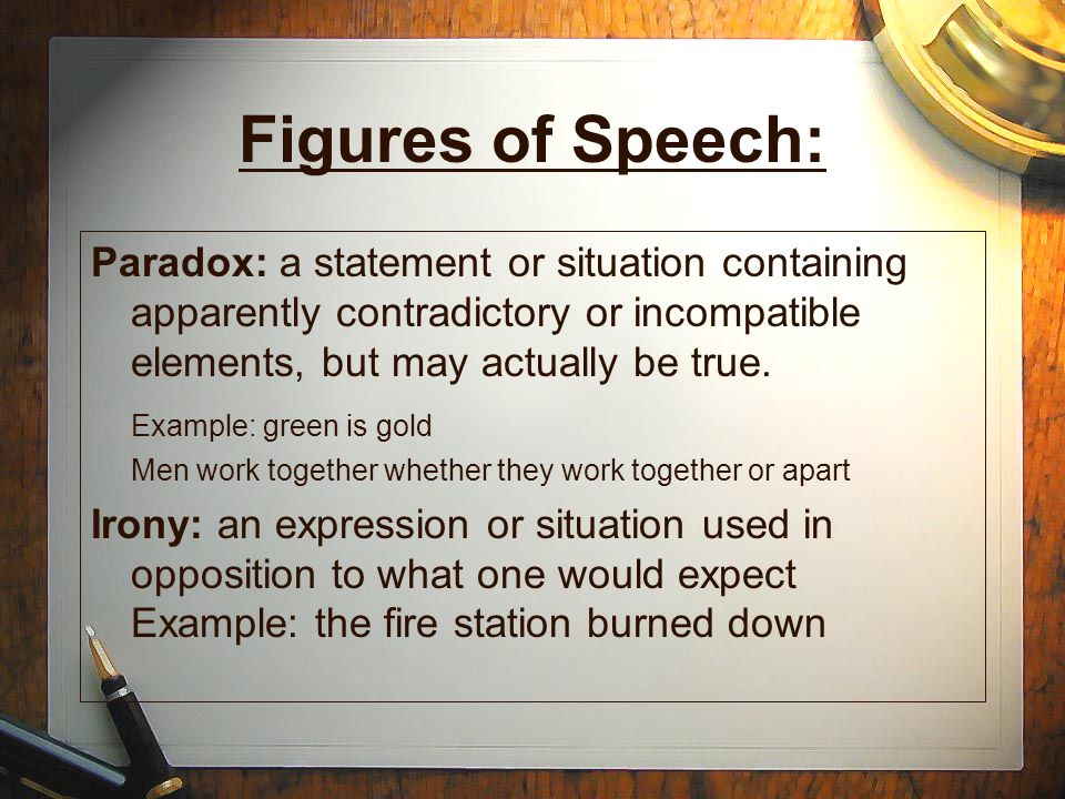 Figures Of Speech Paradox Examples Choice Image Example Cover