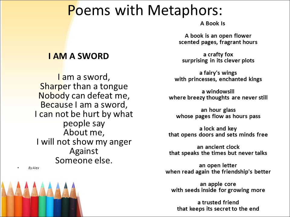 I Am Poem Examples With Metaphors Image Collections Example Cover