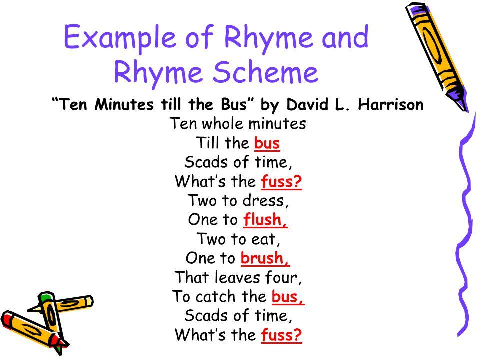 rhyme scheme examples