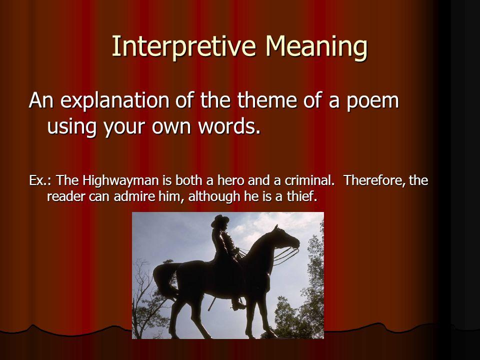 the highwayman explanation